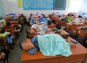 Тихий час в китайской школе