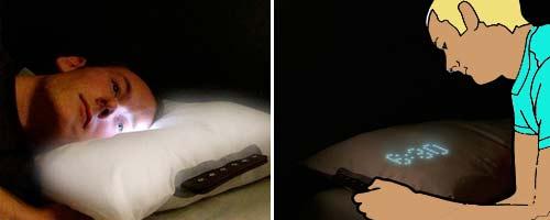 Необычные подушки. Подушка-будильник