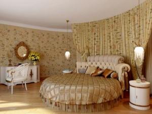 Круглая кровать подойдет, если вы спите в одиночестве или в обнимку со своим супругом или супругой